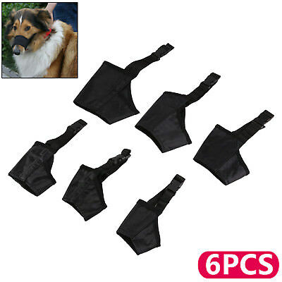 Black Adjustable Mouth Muzzle Cover For Dog Pet Training Bark Bite Chew Control