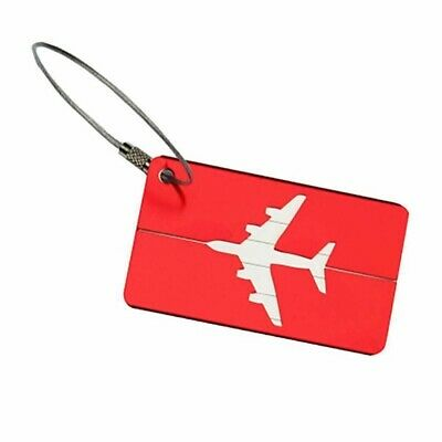 RED Aluminium Travel Luggage Tag Baggage Suitcase Bag Identity Address Labels