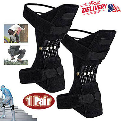 2X Knee Brace Powerful Booster Leg Joint Lift Support Pads Rebound Spring Force
