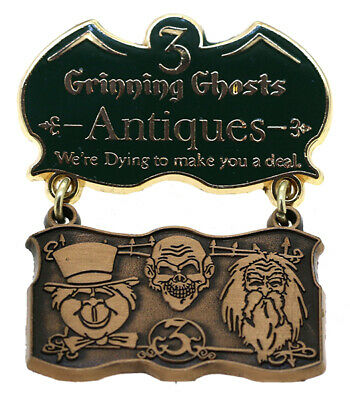 2010 Disney WDW 3 Grinning Ghosts Antiques LE-750 Pin Rare