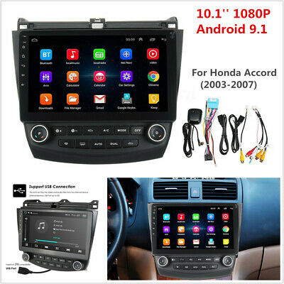 10.1'' Android 9.1 Quad-Core Car Stereo Radio GPS Nav For Honda Accord 2003-2007