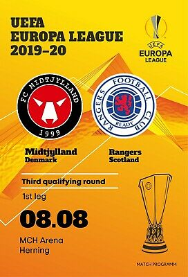MIDTJYLLAND Denmark RANGERS Glasgow Scotland 2019 EL FAN edition