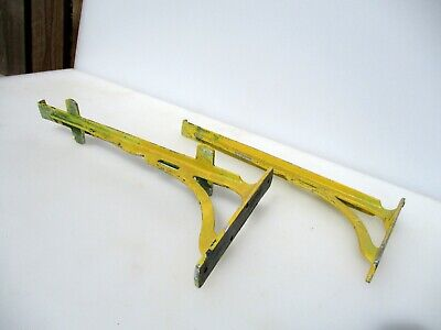 "Vintage Iron Cistern Shelf Brackets Holders Shelve Art Deco Old 11""D"