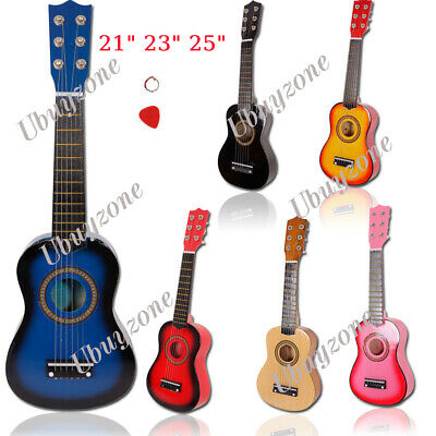 """21"""" 23"""" 25"""" Inch Kids Wooden Acoustic Guitar Musical Instrument Child Toy Gift"""