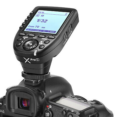 1//8000s,11 Customizable Functions,16 Groups and 32 Channels Godox XPro-C E-TTL 2.4G High-Speed Sync Wireless Flash Trigger Transmitter Compatible for Canon Cameras