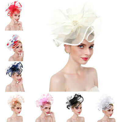 Lady Large Fascinator Headband Aliceband Hat Party Wedding Royal Elegantu Trendy