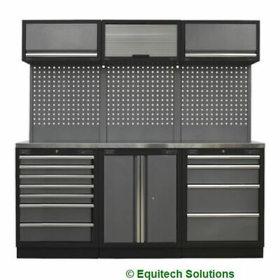 Sealey Tools APMSSTACK07SS Modular Storage System Combo Stainless Steel Worktop