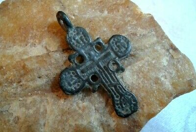 "RARE ANTIQUE c.17-18th CENTURY ORNATE ""OLD BELIEVERS"" ORTHODOX ""SUN"" CROSS"