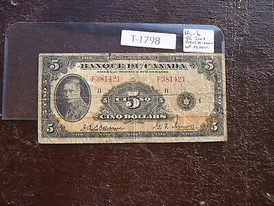 CANADA  BANKNOTE 5 dollar 1935 FRENCH ISSUE REF BC 6    T1798