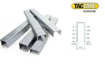 Tacwise 80 series staples box of  10,000 sizes between 4mm and 14mm