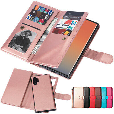 For Samsung Galaxy Note 10 Plus PU Leather Magnetic Wallet Flip Case Cover Stand