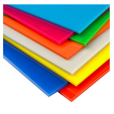 Coloured Acrylic Perspex® Sheet, A5 Available in 24 Different Colours, 5mm Thick