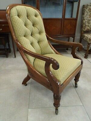 Antique Gillows Early Victorian Rosewood Showframe Armchair Cope & Collinson