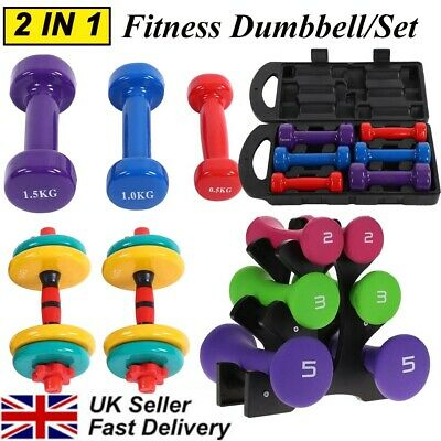 Neoprene Iron Dumbbells Weights Home Gym Fitness Aerobic Exercise Iron Pair Hand