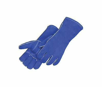 Welding Gloves Large Blue Cowhide 7344 (12 Pairs)