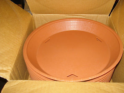 "TABLE Diner Platters 12"" Terra Cotta Polypropylene 137512TC (12 Pack)"