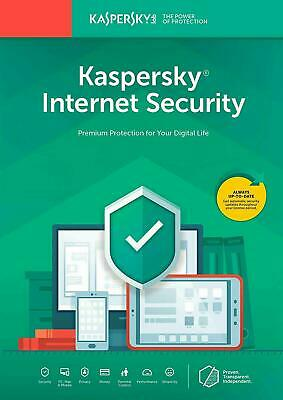 Kaspersky Internet Security 2019 10 Appareils 1 An PC/Mac/Android Téléchargement