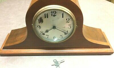 Antique Gilbert 1807 Mantel Clock Chimes On The Hour & Half Hour With Key