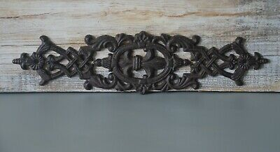 Vintage Cast Iron Decor Piece, Architectural Salvage, with Great Rusty Patina
