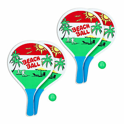 2 x beachballset - strandspeelgoed - strandtennis -  racket - beach ball set