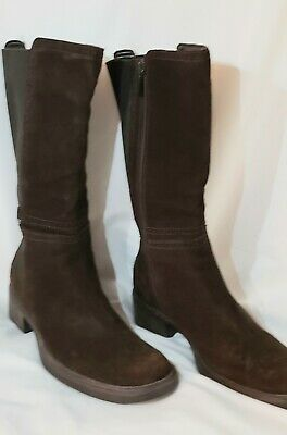 Aquatalia Bryana Marvin K Dark Chocolate Brown Suede leather with Elastic 7.5