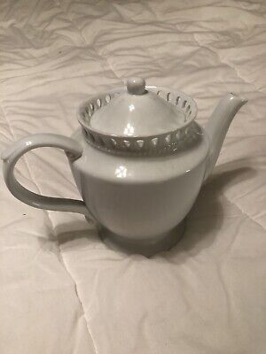 I.godinger & Co.teapot-.Beautiful Scalloped Shaped Crown With Tear Drop Cut Outs
