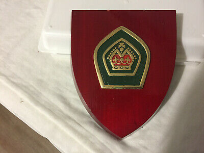 Vintage 70's Queen's Scout metal Badge on plinth great condition for age