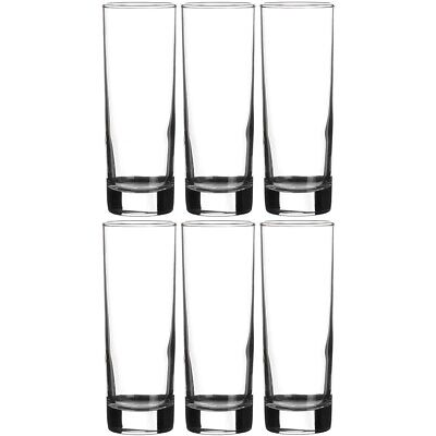 Promobo - Set Lot 6 Verres A Eau Gobelet Cocktail Collection Side Design Long Dr