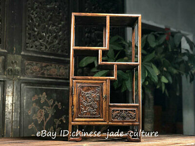 "27"" China Huanghuali Wood Drawer Cupboard Classical Furniture Vase Bottle Shelf"