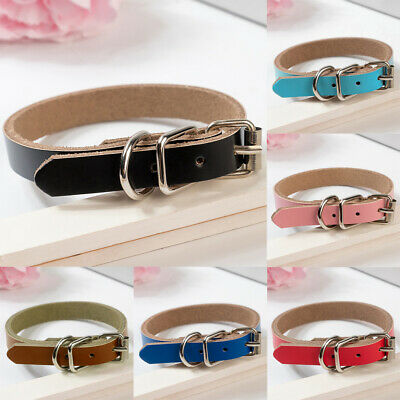 Personalized Leather Dog Collar For Pet Puppy Adjustable