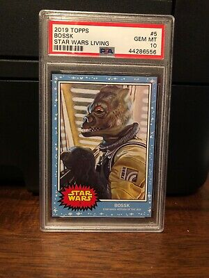 2019 Topps Star Wars Living Set Bossk #5 PSA 10 Gem Mint