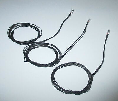 Lightbulb with 35cm Cable Black 16V,30mA,T2,3mm - 3 Pieces New