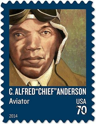 "2014 70c C. Alfred ""Chief"" Anderson, Aviator Scott 4879 Mint F/VF NH"