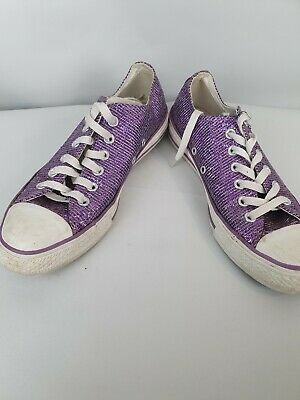 Converse Sparkly Purple Sneakers Sz US8