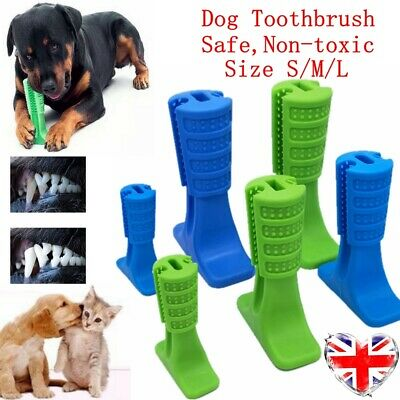 Dog Toothbrush Toy Clean Teeth Brushing Stick Pet Brush Mouth Chewing Clean SML