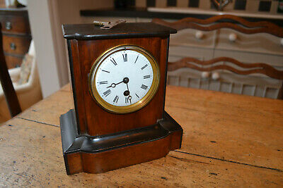 8 day french clock,wood case,gwo