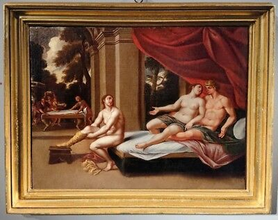 Philomel And Procne Greek Mythology 17th Century Original Oil Painting