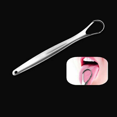 HOT Stainless Steel Tongue Cleaner Scraper Oral Care Bad Breath Sweeper Tool