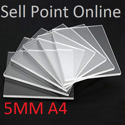 5MM A4 Clear Acrylic Sheet Perspex Plexiglass Plastic Panels 210 x 297 Material