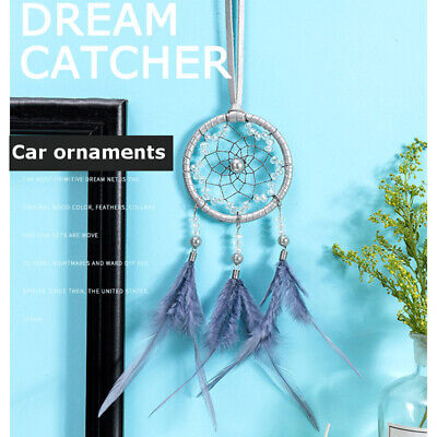 Handmade Dream Catcher w/ Feathers Car or Wall Hanging Decoration Ornament Craft