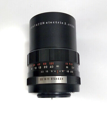 Pentacon Electric 135mm f2.8 Camera lens, GDR German M42 screw fit