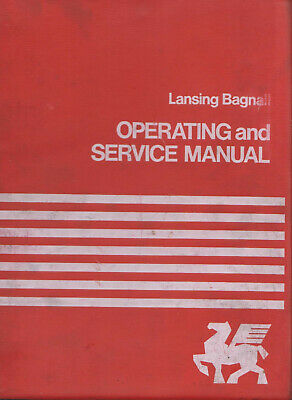Lansing Bagnall Operating and Service Manual for FGER 1 Range Forklift Trucks
