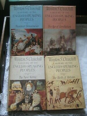 Vtg. Set 4 Vol. The History Of The English Speaking People By Winston Churchill