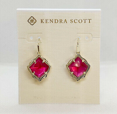 Kendra Scott Dunn Large Drop Earrings In Berry Illusion NWT Retail $80