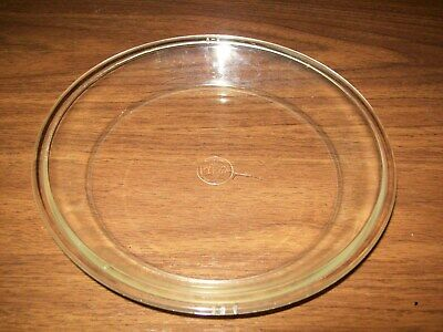 Earliest Pyrex Corning Glass Works $ Backstamp 8 Inch Clear Glass Pie Plate