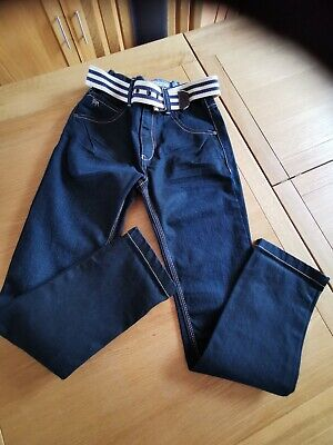 Jasper Conran Boys Blue Jeans Age 9, Matching Belt. New Without Tags