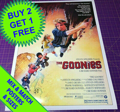 THE GOONIES (1985)  • POSTER • A4 to A1 size
