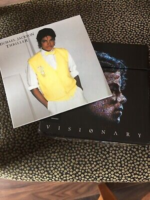 michael Jackson Visionary - CD DVD dualdisc - collectors  Singles Box + Thriller