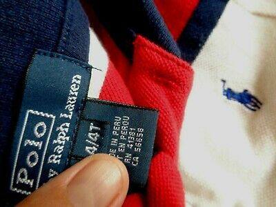 Ralph Lauren 4T Mesh Polo Shirt red white blue w/ navy pony. worn once. EUC!!
