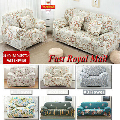 2/3/4 Seater Elastic Floral Sofa Covers Slipcover Settee Stretch Couch Protector